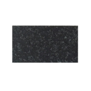 Tæppeløber 2m bred i meleret sort. Tæppe af høj kvalitet. Tæppe på mål.