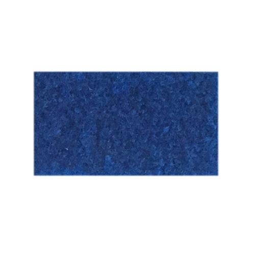 Udstillingstæppe i mellemblå. Tæppe af høj kvalitet. Køb hel rulle eller på mål.