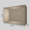 Birkekrydsfinér udstillingskasse dybde 40 cm. Til udstilling af varer. Alttilbutikken.dk. Alttilbutikken. Alt til butikken.