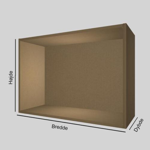 MDF udstillingskasse dybde 30 cm. Til udstilling af varer. Alttilbutikken.dk. Alttilbutikken. Alt til butikken.