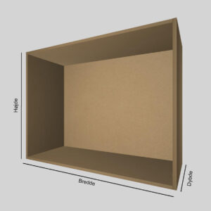 MDF udstillingskasse dybde 40 cm. Til udstilling af varer. Alttilbutikken.dk. Alttilbutikken. Alt til butikken.