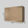 Spånplade udstillingskasse dybde 30 cm. Til udstilling af varer. Alttilbutikken.dk. Alttilbutikken. Alt til butikken.