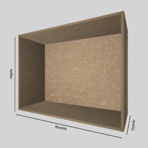 Spånplade udstillingskasse dybde 40 cm. Til udstilling af varer. Alttilbutikken.dk. Alttilbutikken. Alt til butikken.