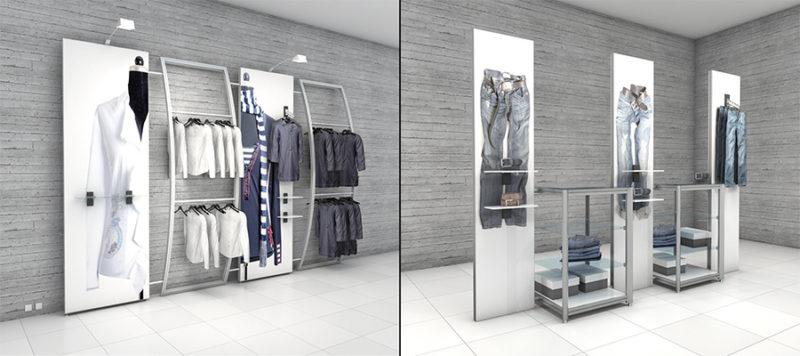 Magnetiske displays til butik. Butiksdisplay