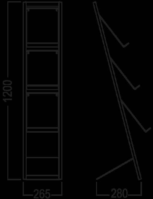 Brochurerholder. Brochurerstativ med tre A4 holdere.