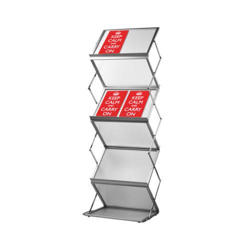 Pop-up brochurerstativ. Zigzag formet til A3 format.