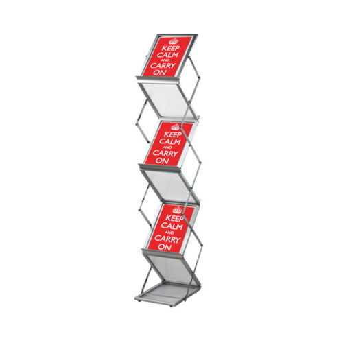 Pop-up brochurerstativ. Zigzag formet til A4 format.