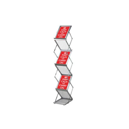 Pop-up brochurerstativ. Zigzag formet til A5 format.