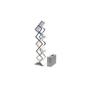 Pop-up brochurerstativ. Zigzag formet til A5 format. Teknisk foto.