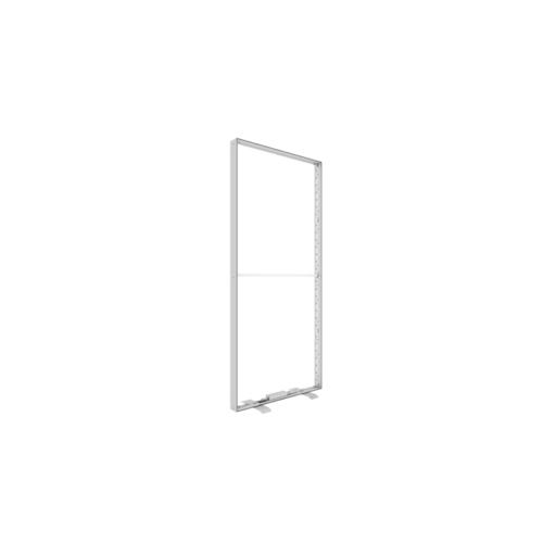 Octalumina fritsående display. Mål: 100x248x12 cm. Dobbeltsidet LED belysning. Teknisk foto nr 2.
