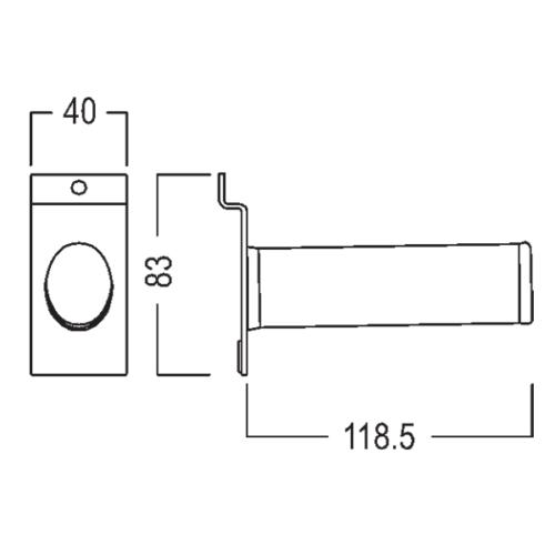 Magnetisk værktøj til butiksdisplay. teknisk foto nr 2.