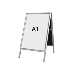 A-stativ gadeskilt A1. Alt til butikken. Alttilbutikken.dk. Alttilbutikken. Mål A1.