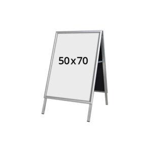 A-stativ gadeskilt 500 x 700mm. Alt til butikken. Alttilbutikken.dk. Alttilbutikken. Mål 50x70 cm.