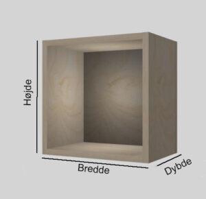 Birkekrydsfinér udstillingskasse dybde 20 cm. Til udstilling af varer. Alttilbutikken.dk. Alttilbutikken. Alt til butikken.
