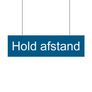 Infobanner med tekst hold afstand. Alt til butikken. Alttilbutikken.dk. Alttilbutikken