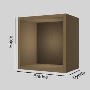 MDF udstillingskasse dybde 20 cm. Til udstilling af varer. Alttilbutikken.dk. Alttilbutikken. Alt til butikken.