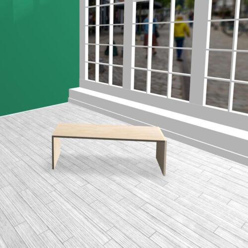 Produktbord i HØJDE 40 cm birkekrydsfiner