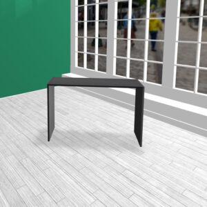 Produktbord i HØJDE 80 cm sort MDF