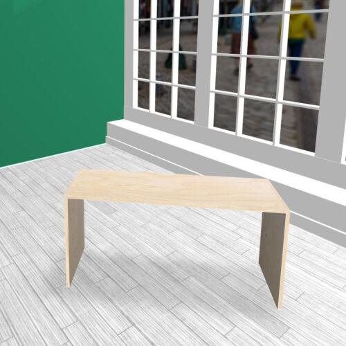 Produktbord i HØJDE 60 cm birkekrydsfiner
