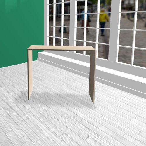 Produktbord i HØJDE 100 cm birkekrydsfiner