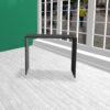 Produktbord i HØJDE 100 cm sort MDF