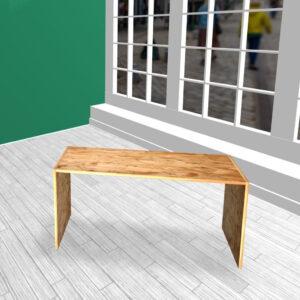 Produktbord i HØJDE 60 cm OSB