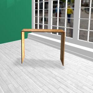 Produktbord i HØJDE 100 cm OSB