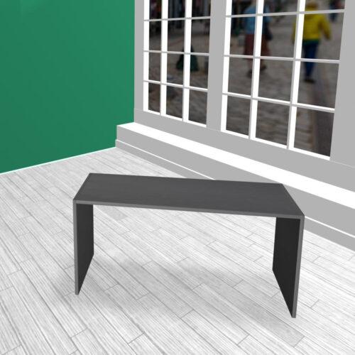 Produktbord i HØJDE 60 cm sort MDF
