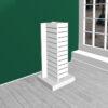 Space display i hvid, Slotwall, slatwall og spacewall. Alt til butikken. Alttilbutikken. Alttilbutikken.dk Spacedisplay 60x60 cm.