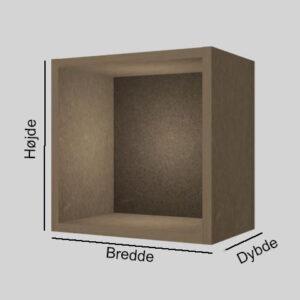 Spånplade udstillingskasse dybde 20 cm. Til udstilling af varer. Alttilbutikken.dk. Alttilbutikken. Alt til butikken.
