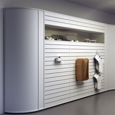 Alt til butikken. Slatwall og spacewall til at udstille varer. Perfekt til en butik.