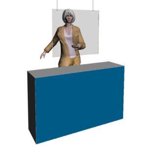 Beskyttelsesskærm i akryl ophængt